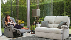 Sherborne Nevada 2 Seater Fabric Sofa & Roylae Recliner Chair