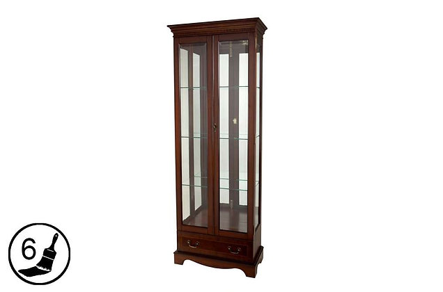 Simply Classical Tall China Display Cabinet with Drawer