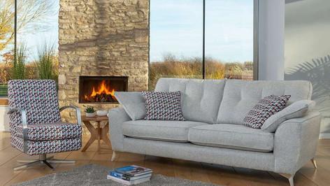 Savannah 3 Seater Sofa & Swivel Accent Chair