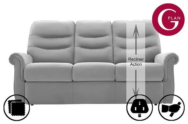 G Plan Holmes Leather RHF Single 3 Seater Recliner Sofa