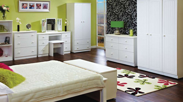 Solent White Bedroom Furniture, Wardrobes, Chest sof Drawers, Bedside Cabinets, Dressing Tables, Stool, Mirrors & Ottomans | Gordon Busbridge Furniture Store | Hastings, Eastbourne, Seaford & Bexhill