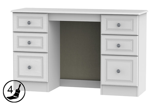 Clifton 6 Drawer Kneehole Dressing Table