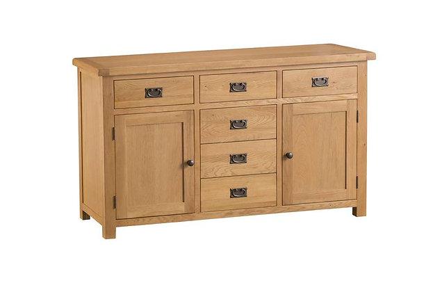Classic Oak 2 Door 6 Drawer Sideboard