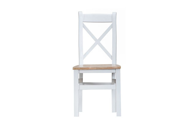 Trent Cross Back Chair Wooden Seat