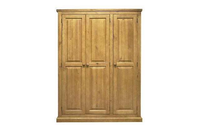Budget Pine 3 Door Wardrobe