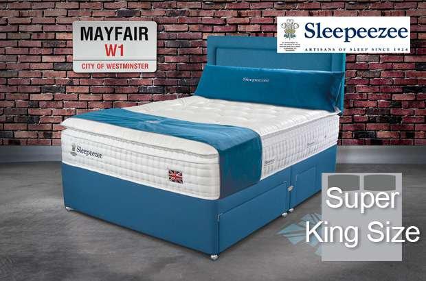 Sleepeezee Perfectly British Mayfair 3200 Super King Size Divan Bed