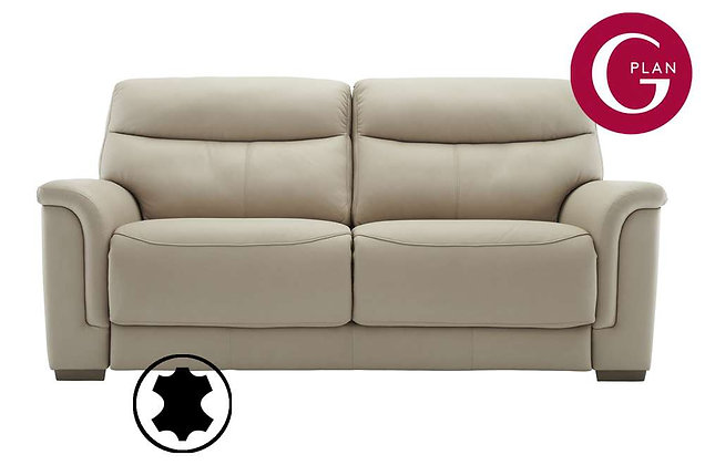 G Plan Harrison Leather 3 Seater Sofa (2 Cushion)