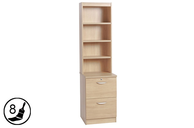 R White B-2DF-OC – Two Drawer Filing Cabinet with Hutch