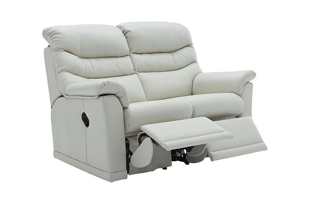 G Plan Malvern Leather Double 2 Seater Recliner Sofa