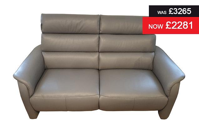 Appledore 2 Seater Power Recliner Sofa - Grey semi aniline hide