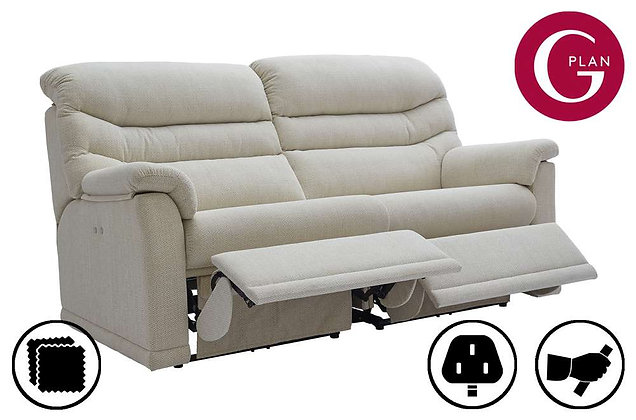 G Plan Malvern 3 Seater Double (2 Cushion) Recliner Sofa
