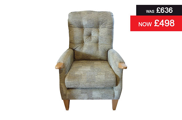 Cintique Farley Standard Chair - Patchwork Fennel