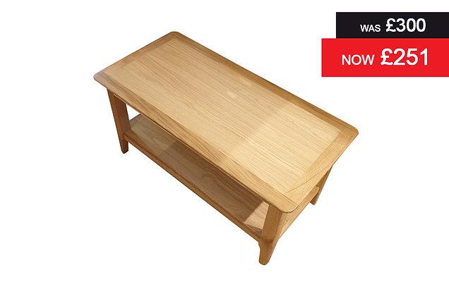 Natural Oak Rectangular Coffee Table