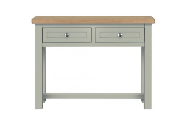 Bretagne 2 Drawer Console Table – Rockford with Natural Top