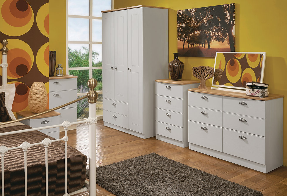 Wimborne Bedroom Furniture - Wardrobes, Chest of Drawers, Bedside Cabinets, Dressing Tables, Stool and Mirrors