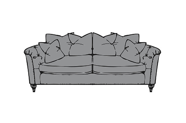 Sophia Medium Pillow Back Sofa