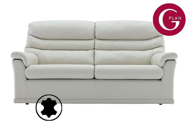 G Plan Malvern Leather 3 Seater (2 Cushion) Sofa