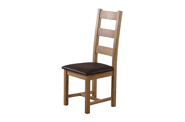 Rustic Charm Ladder Back Dining Chair