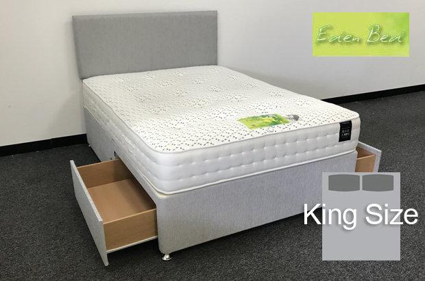Eden Beds Tencel Pocket 1000 King Size 2 Drawer Divan
