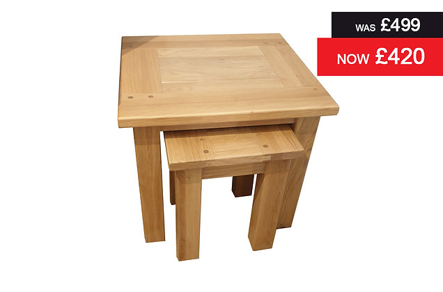 Hills Oak Nest of 2 Tables - Oak