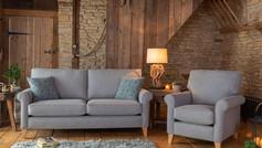 Alstons Poppy 3 Seater Fabric Sofa & Armchair
