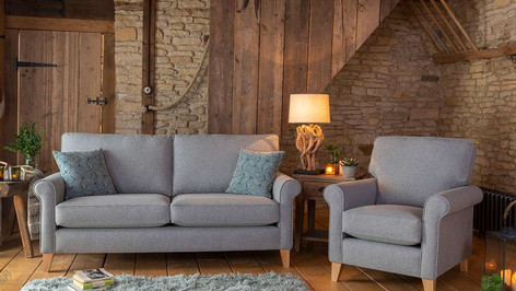 Alstons Poppy 3 Seater Fabric Sofa & Armchair