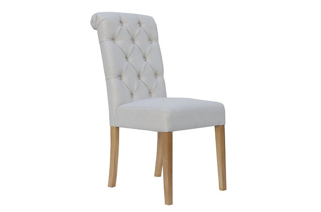 Scroll Top Dining Chair – Natural