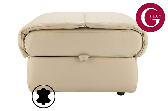 G Plan Mistral Leather Storage Footstool