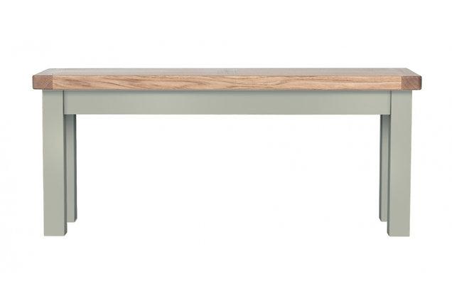 Bretagne 98cm Bench – Rockford Grey with Natural Top
