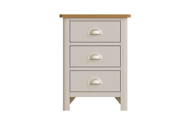 Boston Large 3 Drawer Bedside Cabinet