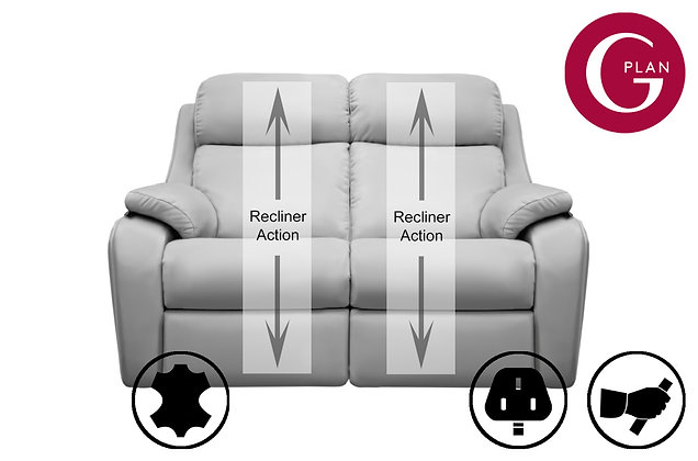 G Plan Kingsbury Leather 2 Seater Recliner Sofa
