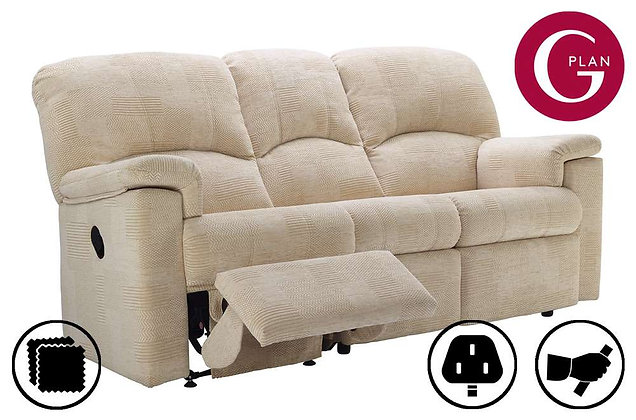 G Plan Chloe 3 Seater Left Hand Facing Single Recliner Sofa