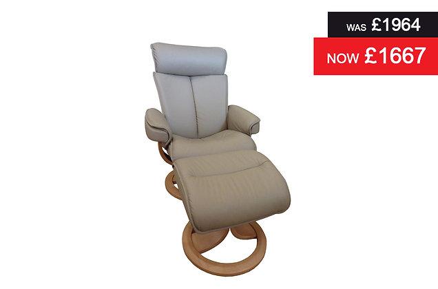 G Plan Bergen Large Chair & Stool - Cambridge Taupe