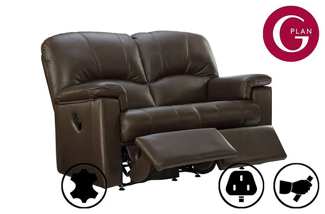 G Plan Chloe Leather 2 Seater Double Recliner Sofa
