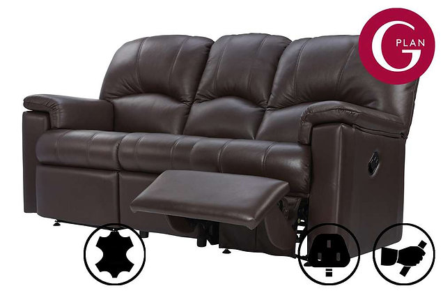 G Plan Chloe Leather 3 Seater Right Hand Facing Single Recliner Sofa