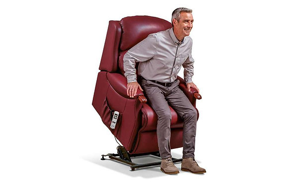 Sherborne Malham Leather Standard Lift & Rise Care Recliner Chair