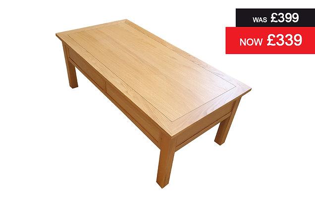 Natural Oak Large Rectangular Coffee Table