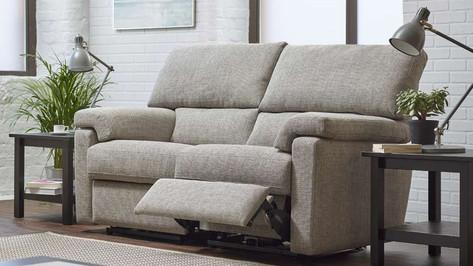 Ernest Fabric 2 Seater Recliner Sofa