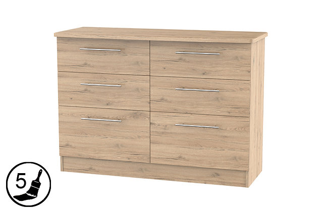 Milford 6 Drawer Midi Chest