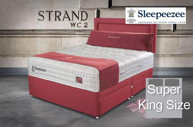 Sleepeezee Perfectly British Strand 1400 Super King Size Divan Bed