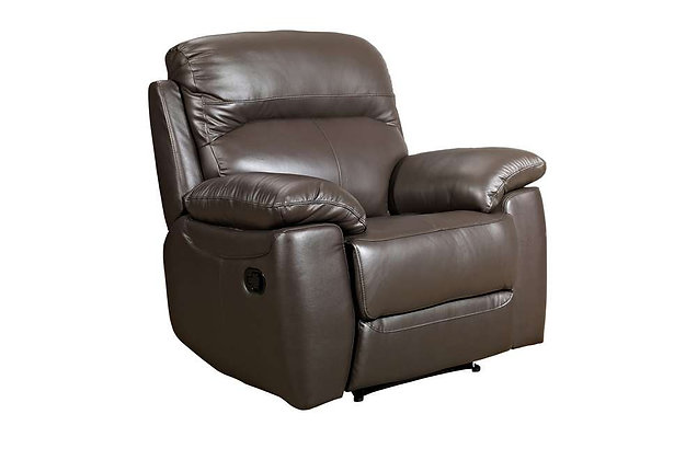 Aston Leather Manual Recliner Chair