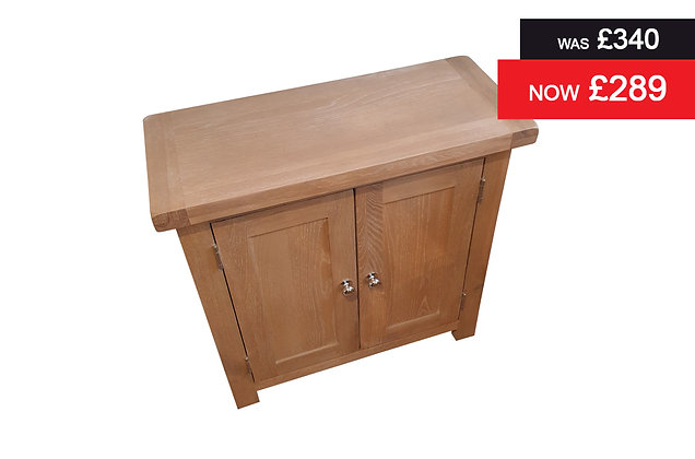 2 Door Cupboard - Lime Wash Oak