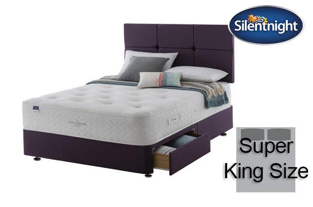 Silentnight Mirapocket Aria Eco Comfort 1200 Super King Size Divan Bed