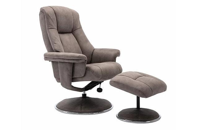 Westbury Swivel Recliner Chair and Stool - Rhino