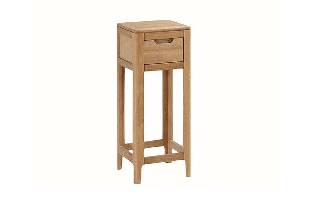 Demure Oak Telephone Stand