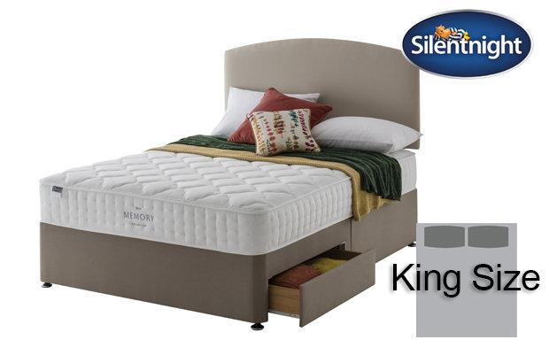 Silentnight Mirapocket Castiel Memory 800 King Size Divan Bed