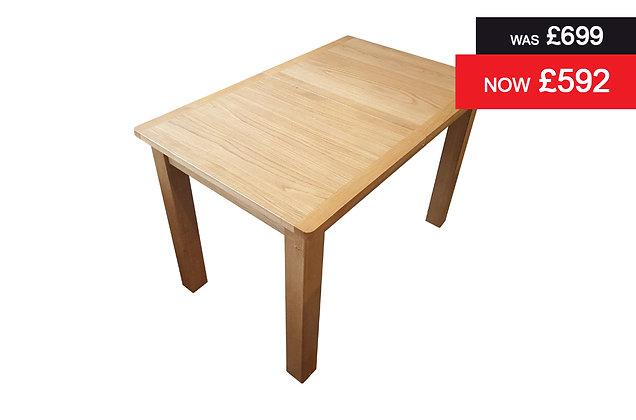 1.2 Metre Rectangular Extending Dining Table - Medium Oak Finish