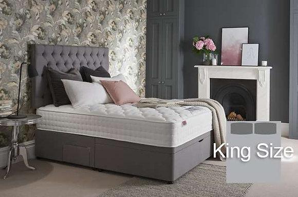 Rest Assured Timeless Aydon Silk 2000 King Size Divan Bed