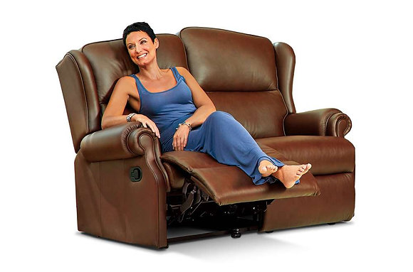 Sherborne Claremont Leather 2 Seater Recliner Sofa