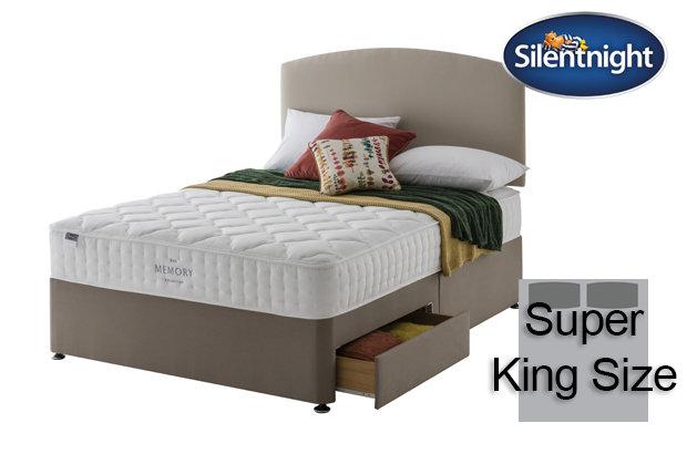 Silentnight Mirapocket Castiel Memory 800 Super King Size Divan Bed